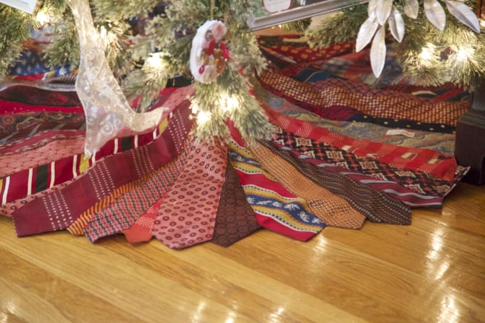 Tree Skirt Made From Mens Ties
