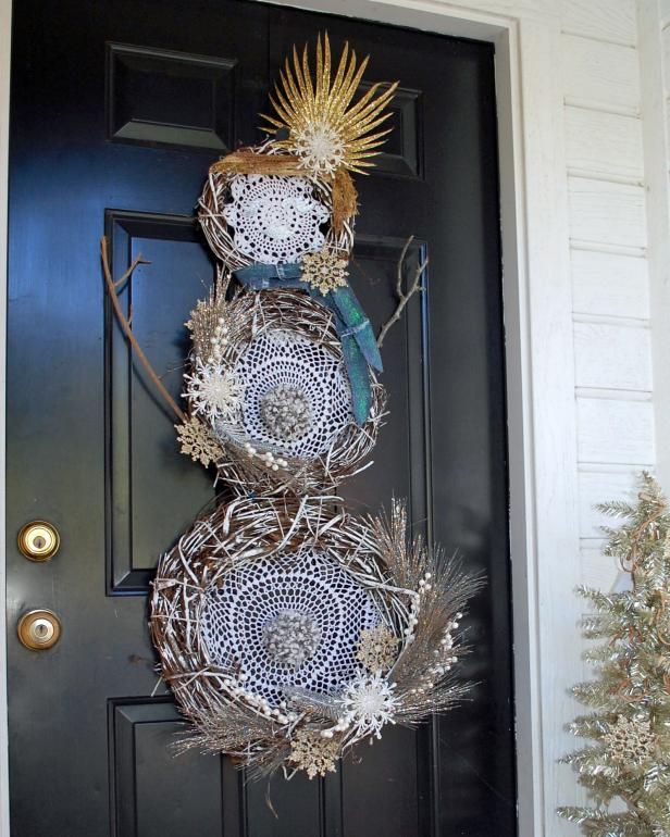 Boho Snowwoman Wreath Jennifer Perkins