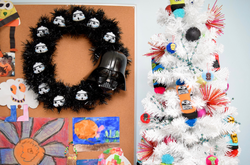 Darth Vader Wreath and Star Wars Tree