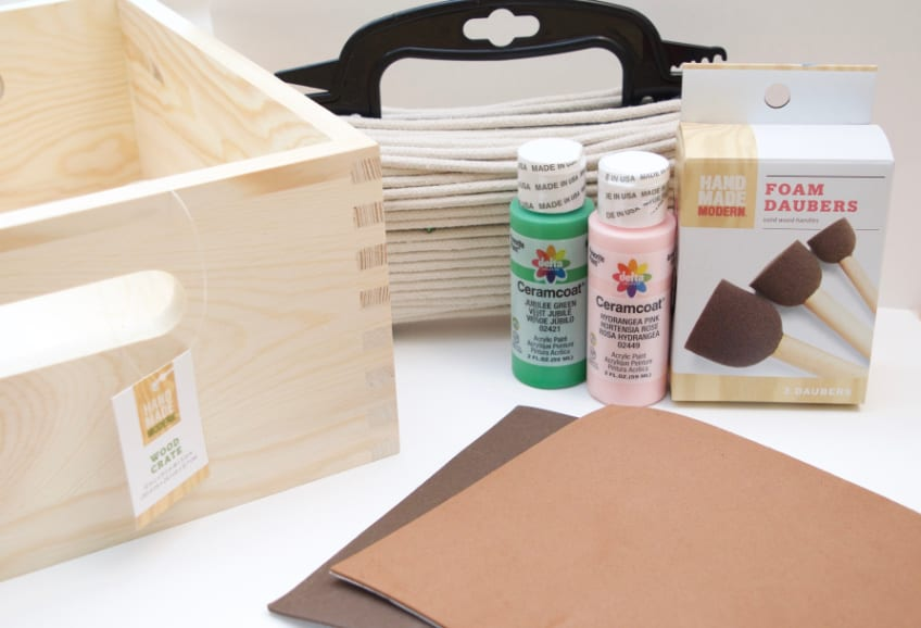 DIY wrapped basket supplies