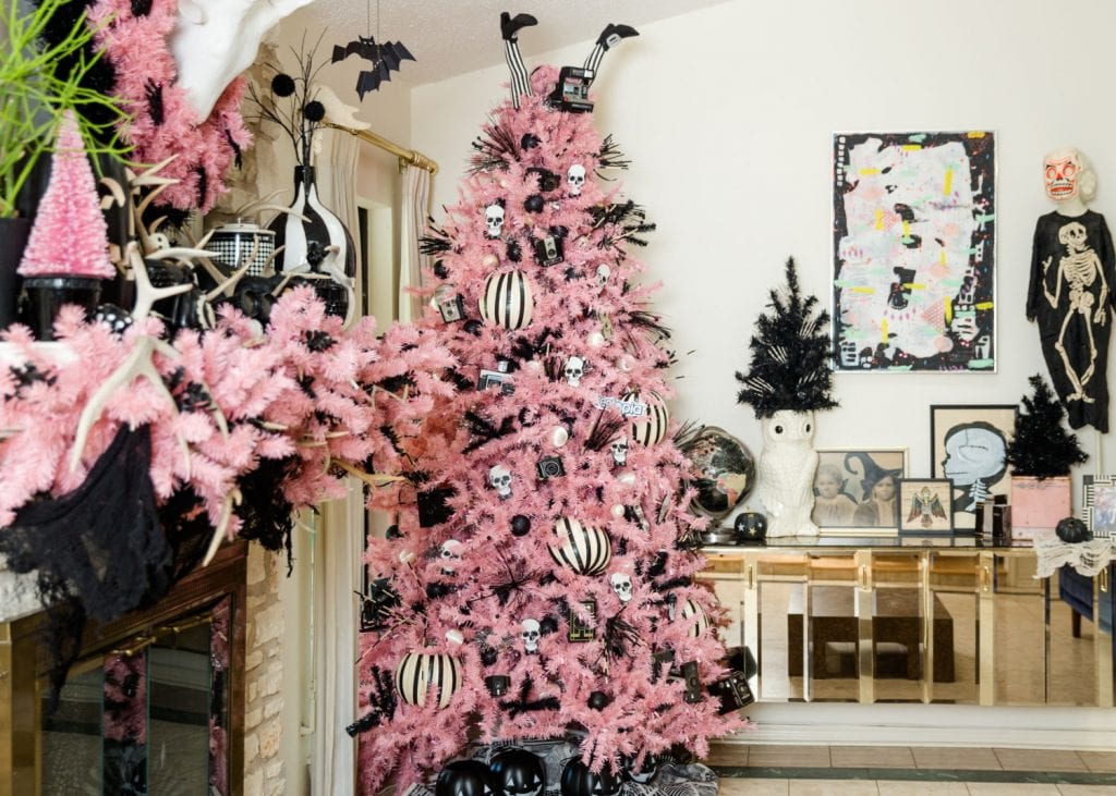 Creepy Cute Pink Halloween Tree By Jennifer Perkins