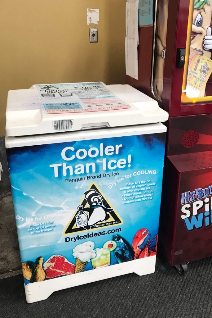 Cooler than ice dry ice