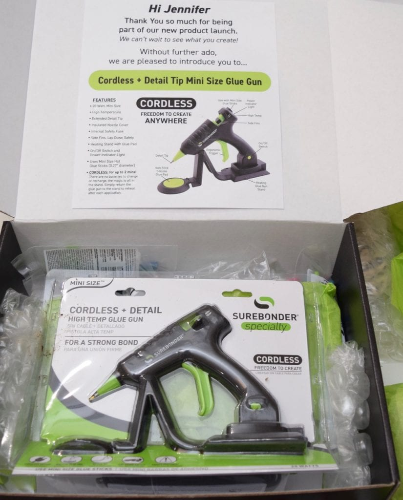 Cordless hot glue gun from Surebonder