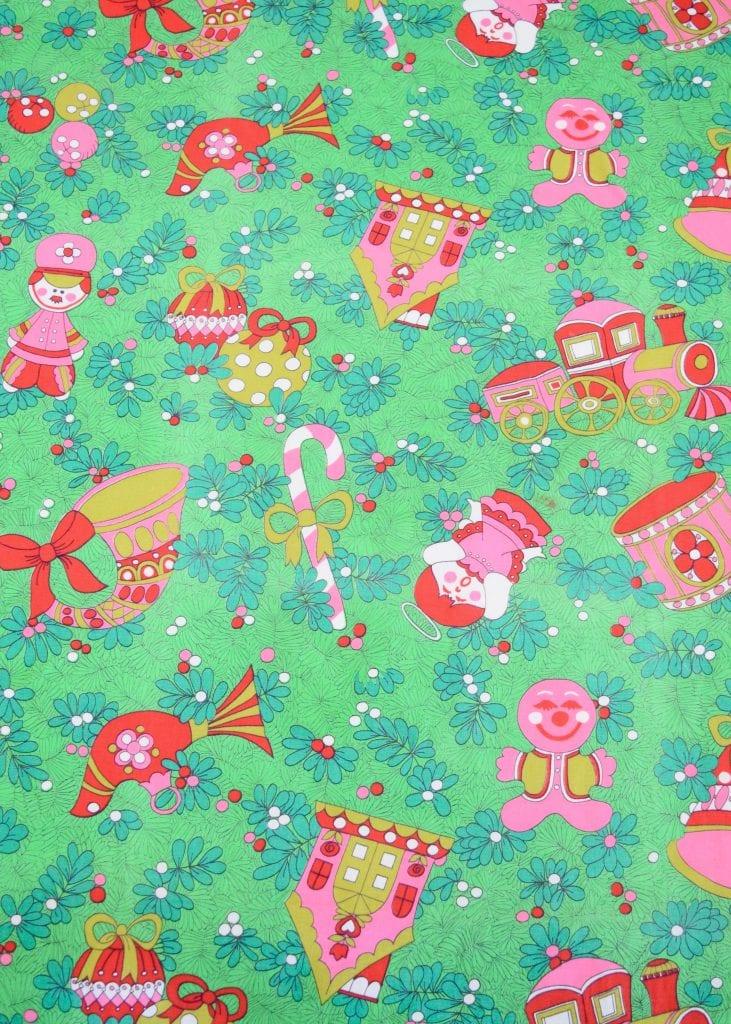 Kitschy retro Christmas fabric