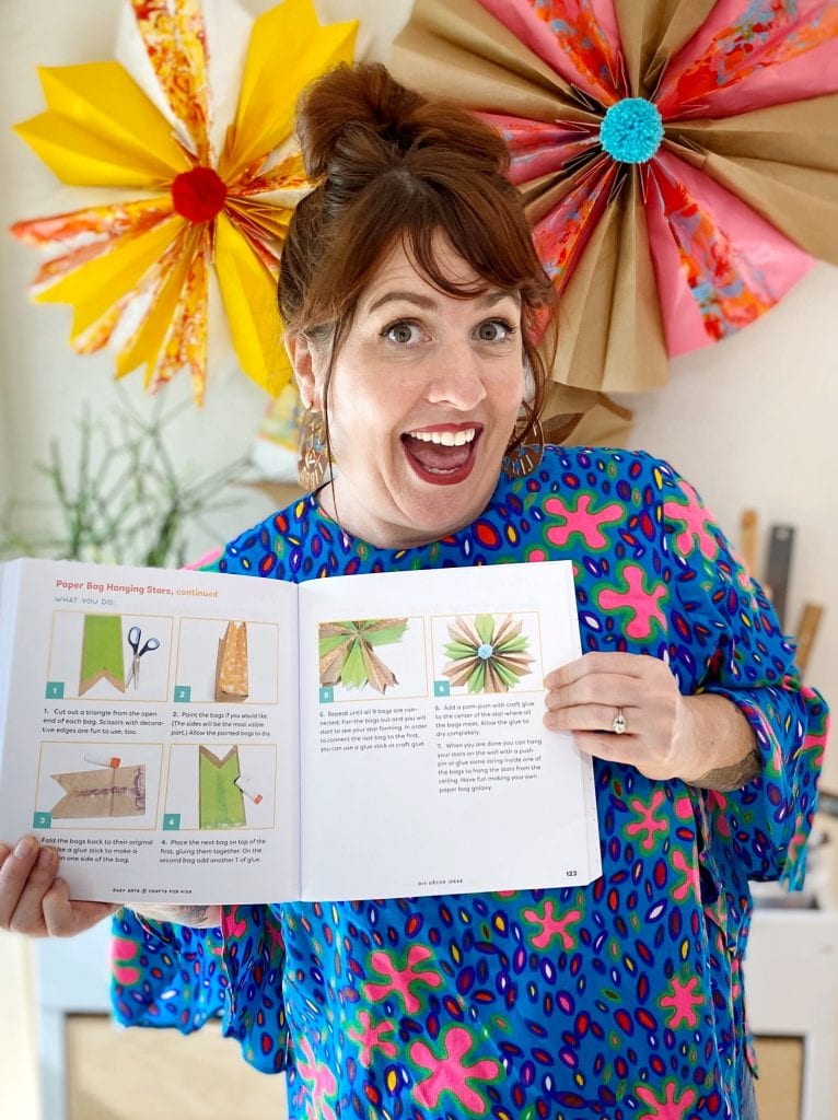 Jennifer Perkins with her book Easy Arts and Crafts For Kids