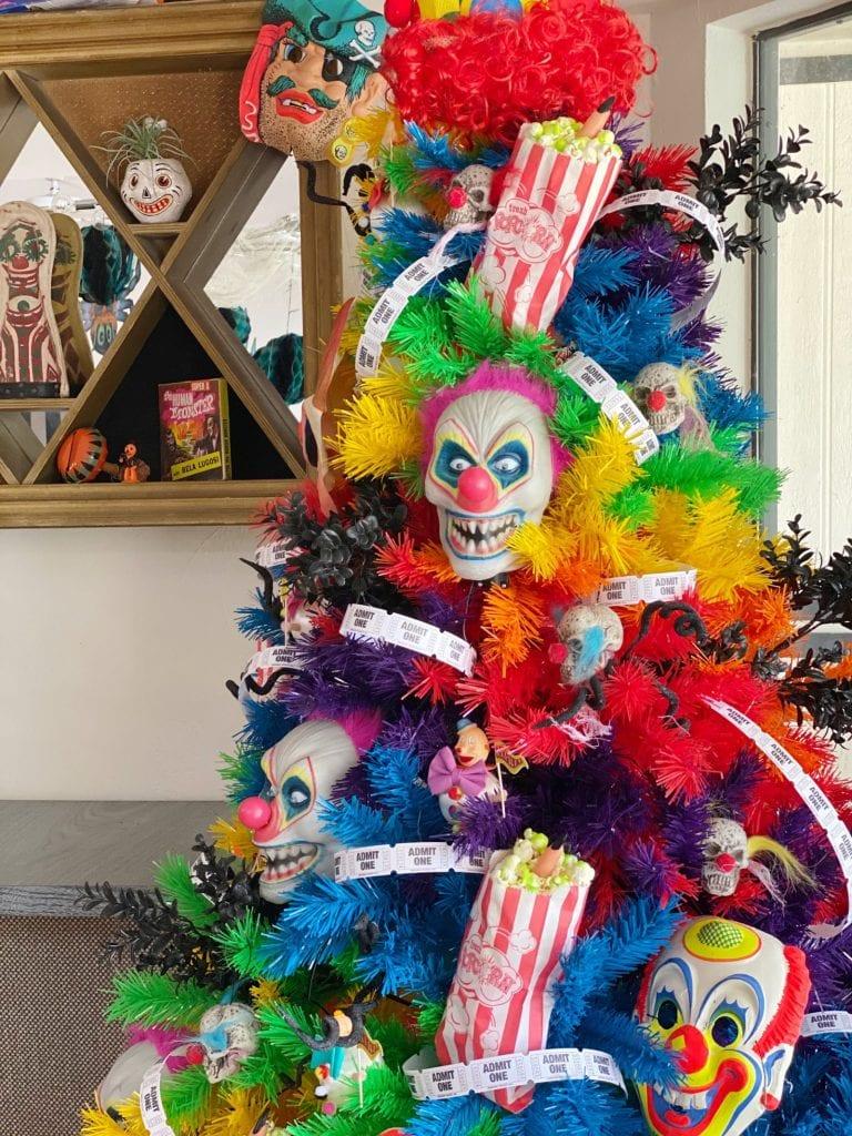 Creepy carnival Halloween tree
