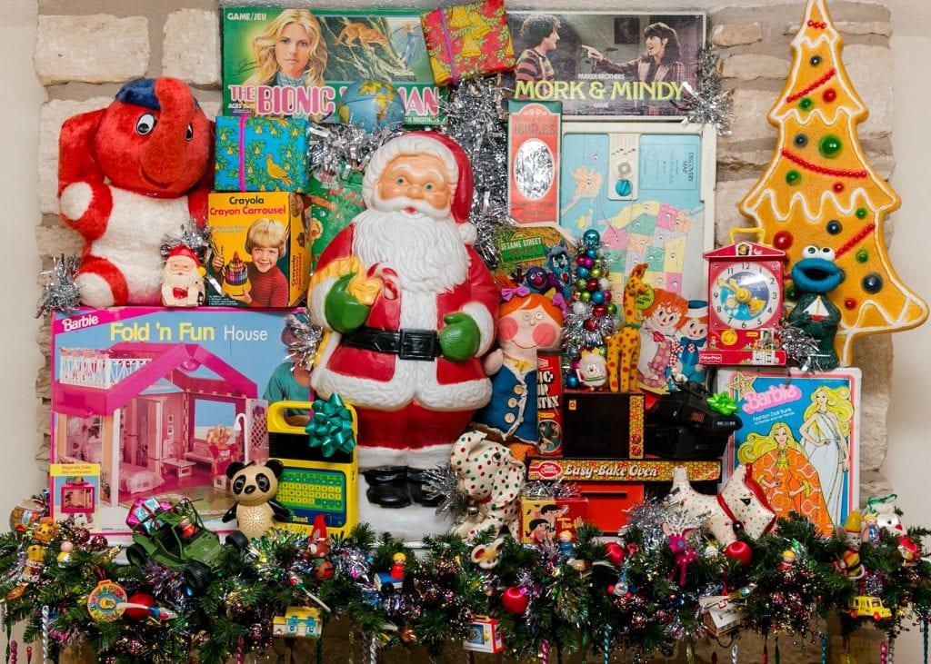 Kitschy Christmas display by Jennifer Perkins.