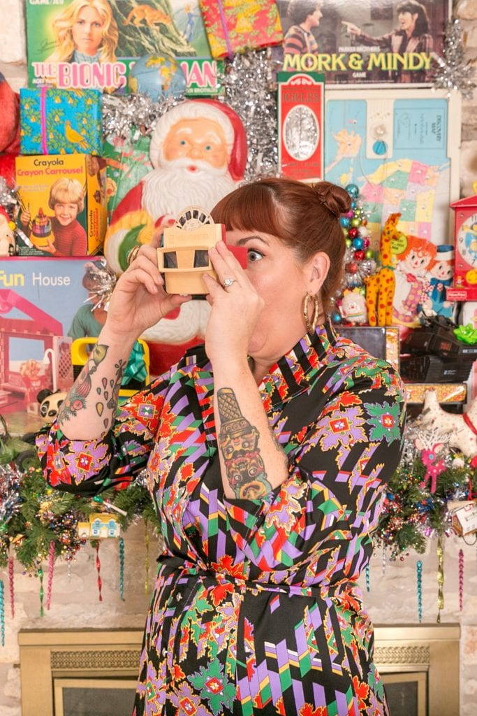 Kitschmas with Jennifer Perkins and her collection of vintage toys as decorations.
