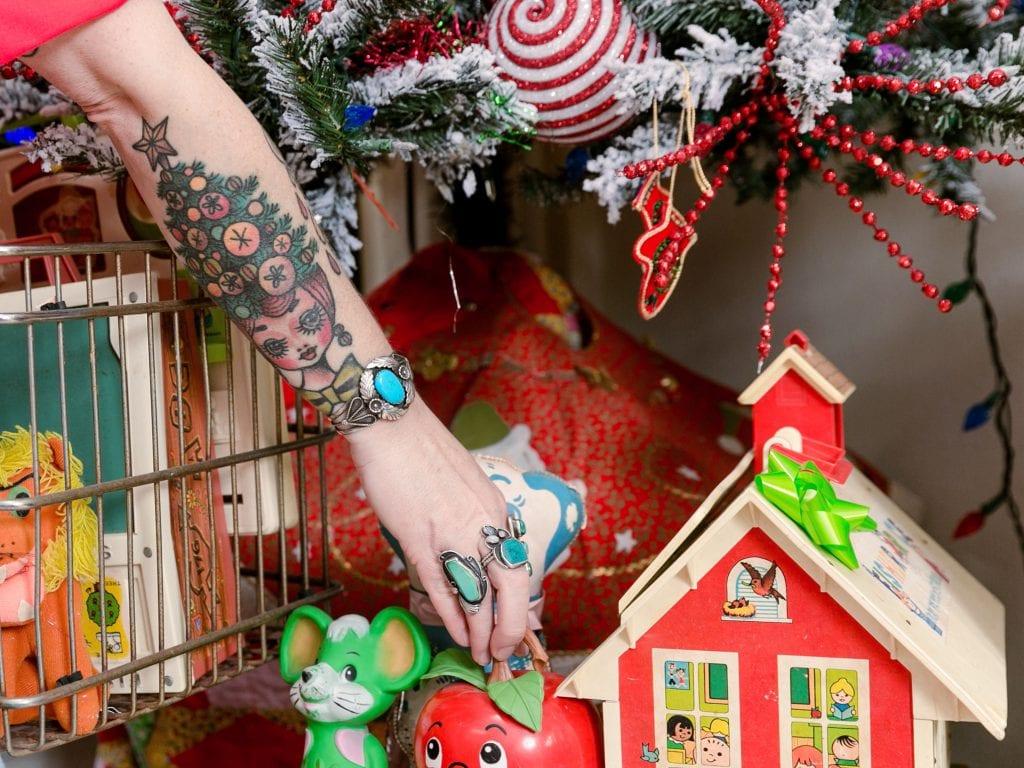 Jennifer Perkins Christmas tattoo.