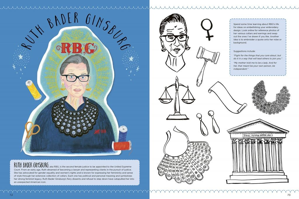Ruth Bader Ginsburg - Empowered Embroidery Book