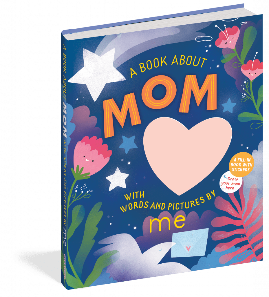 A book about mom with words and pictures by me.