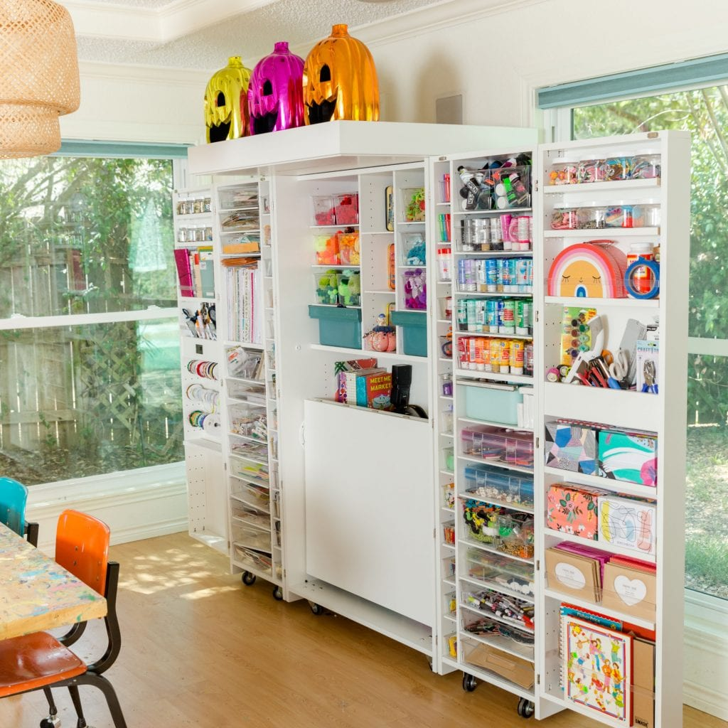 Jennifer Perkins Dreambox in her craft room.