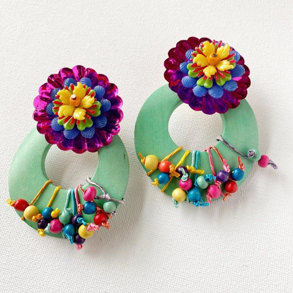 Green earrings from Jennifer Perkins Art